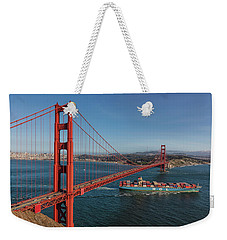 Golden Gate Bridge Weekender Tote Bag by David Cote