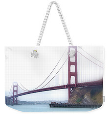 Weekender Tote Bag featuring the photograph Golden Gate Bridge by Laura DAddona