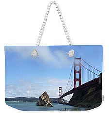 Weekender Tote Bag featuring the photograph Golden Gate Bridge by Sumoflam Photography