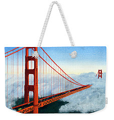 Golden Gate Bridge Sunset Weekender Tote Bag by Mike Robles