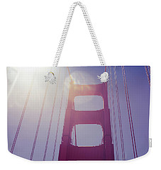 Weekender Tote Bag featuring the photograph Golden Gate Bridge The Iconic Landmark Of San Francisco by Jingjits Photography