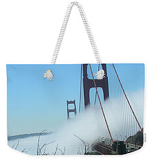 Golden Gate Bridge Towers In The Fog Weekender Tote Bag