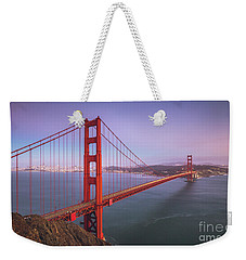 Golden Gate Bridge Twilight Weekender Tote Bag by JR Photography