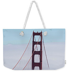Weekender Tote Bag featuring the photograph Golden Gate Fogged - 3 by David Bearden