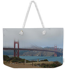 Golden Gate In The Clouds Weekender Tote Bag