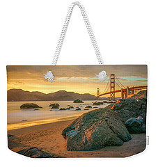 Golden Gate Sunset Weekender Tote Bag