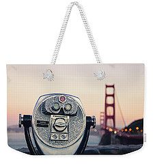 Weekender Tote Bag featuring the photograph Golden Gate Sunset - San Francisco California Photography by Melanie Alexandra Price