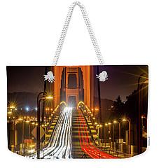 Golden Gate Traffic Weekender Tote Bag