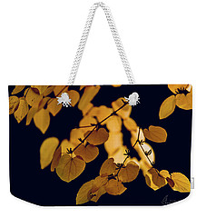 Weekender Tote Bag featuring the photograph Golden by Gene Garnace