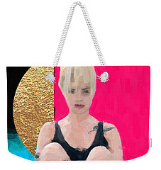 Weekender Tote Bag featuring the digital art Golden Girl No. 3 by Serge Averbukh