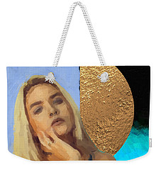 Weekender Tote Bag featuring the digital art Golden Girl No. 4  by Serge Averbukh