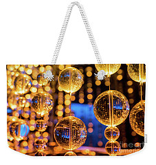 Golden Glass Bubbles Weekender Tote Bag