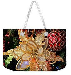 Golden Glitter Christmas Ornaments Weekender Tote Bag