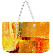 Golden Glow Abstract Square Weekender Tote Bag