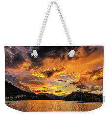 Golden Glow Sunset At Summit Cove Weekender Tote Bag