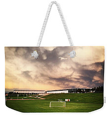 Weekender Tote Bag featuring the photograph Golden Goal by Christin Brodie
