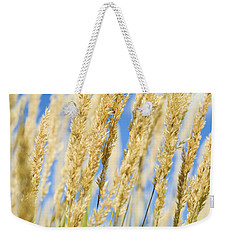 Weekender Tote Bag featuring the photograph Golden Grains by Christi Kraft