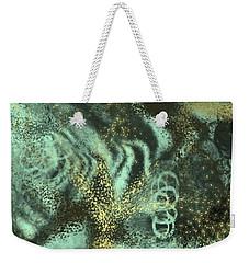 Golden Green Weekender Tote Bag
