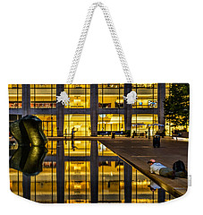 Golden Grid Weekender Tote Bag