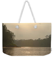 Golden Haze Covering The Amazon River Weekender Tote Bag