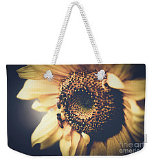 Weekender Tote Bag featuring the photograph Golden Honey Bees And Sunflower by Sharon Mau