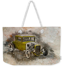 Weekender Tote Bag featuring the photograph Golden Hot Rod by Joel Witmeyer