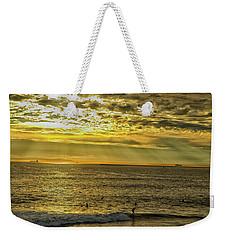 Golden Hour At Seal Beach Weekender Tote Bag by Tom Kelly