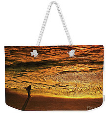 Golden Hour-beach Walk  Weekender Tote Bag