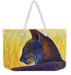 Golden Hour Bobcat Weekender Tote Bag