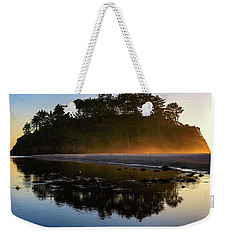 Weekender Tote Bag featuring the photograph Golden Hour Haze At Proposal Rock by John Hight