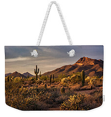 Weekender Tote Bag featuring the photograph Golden Hour On The Usery  by Saija Lehtonen