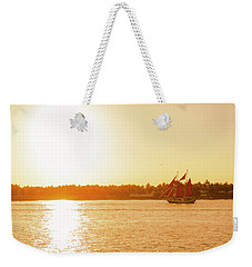 Golden Hour Sailing Ship Weekender Tote Bag