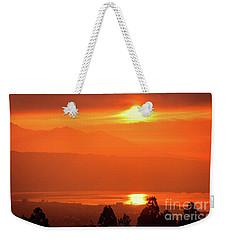 Weekender Tote Bag featuring the photograph Golden Hour by Tatsuya Atarashi