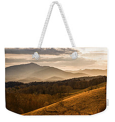 Grandfather Mountain Sunset - Moses Cone Blue Ridge Parkway Weekender Tote Bag