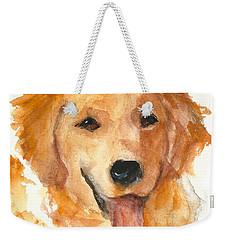 Golden Retriever Watercolor Painting By Kmcelwaine Weekender Tote Bag