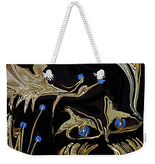 Golden Lady And The Owl Weekender Tote Bag
