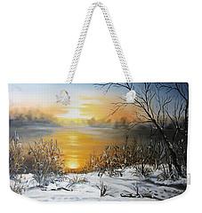 Golden Lake Sunrise  Weekender Tote Bag by Vesna Martinjak