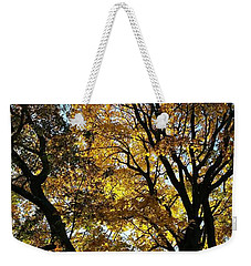 Golden Fall Weekender Tote Bag