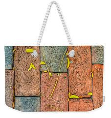 Golden Leaves On Boston Bricks Weekender Tote Bag by Patricia E Sundik