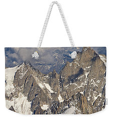 Golden Light At Aiguille Du Midi Weekender Tote Bag