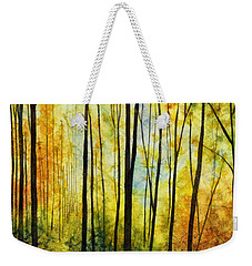 Weekender Tote Bag featuring the painting Golden Light by Hailey E Herrera