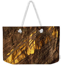 Weekender Tote Bag featuring the painting Golden Light by Nancy Kane Chapman