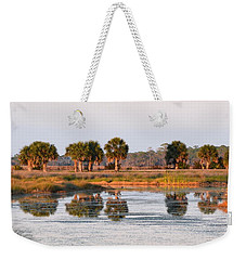 Golden Light On The St. Marks Marshes Weekender Tote Bag