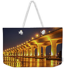 Golden Light Reflection Weekender Tote Bag by Tom Claud
