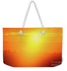 Weekender Tote Bag featuring the photograph Golden Light by Tatsuya Atarashi