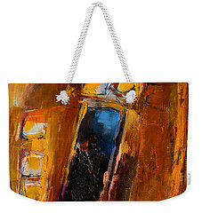 Weekender Tote Bag featuring the painting Golden Lights by Elise Palmigiani