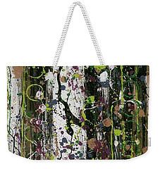Golden Lime Royal Purple Dreams Weekender Tote Bag by Talisa Hartley