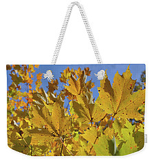 Golden Maple Weekender Tote Bag