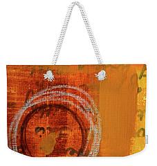 Weekender Tote Bag featuring the painting Golden Marks 11 by Nancy Merkle