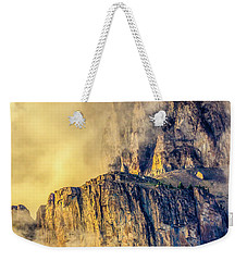 Golden Mist On Cathedral Mountain Weekender Tote Bag